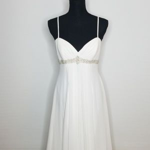 DAVID'S BRIDAL Wedding Dress Size 8 Ivory